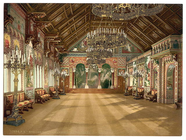 [Music room, Neuschwanstein Castle, Upper Bavaria, Germany]