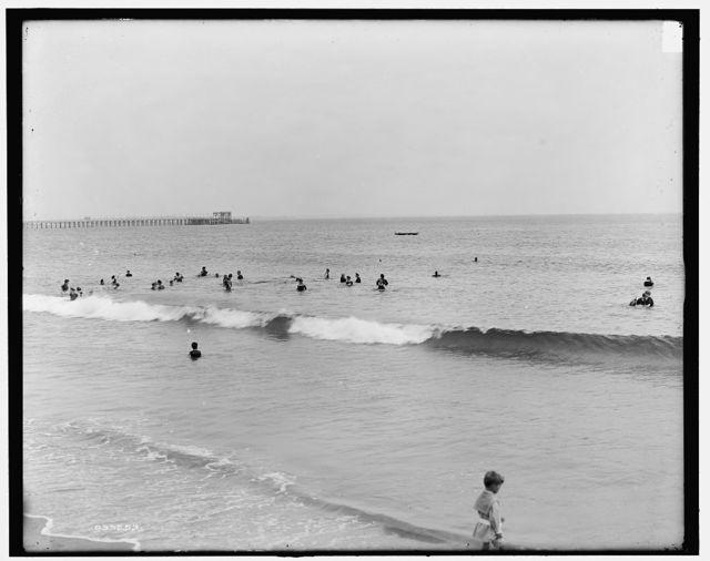 [Narragansett Pier, R.I., bathing beach]