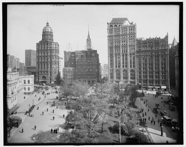 [New York City, Newspaper Row, Park Row]