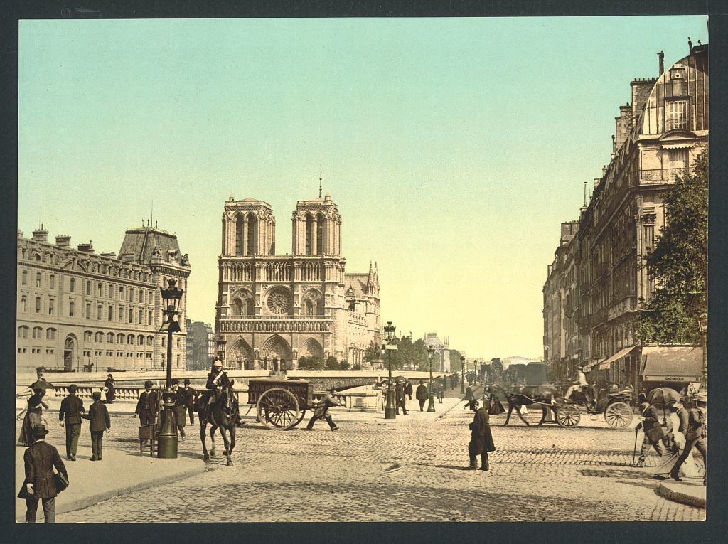 [Notre Dame, and St. Michael bridge, Paris, France]