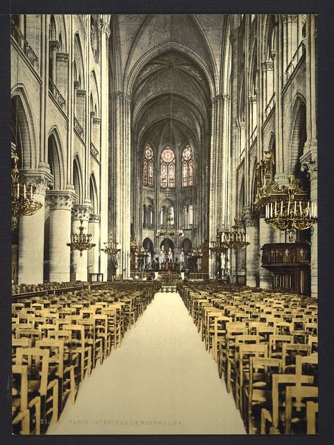 [Notre Dame, interior, Paris, France]