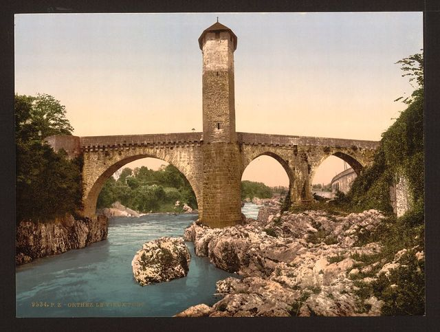 [Old bridge, Orthes (i.e., Orthez), Pyrenees, France]