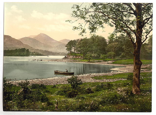 [On Derwentwater, Broomhill Point, Lake District, England]