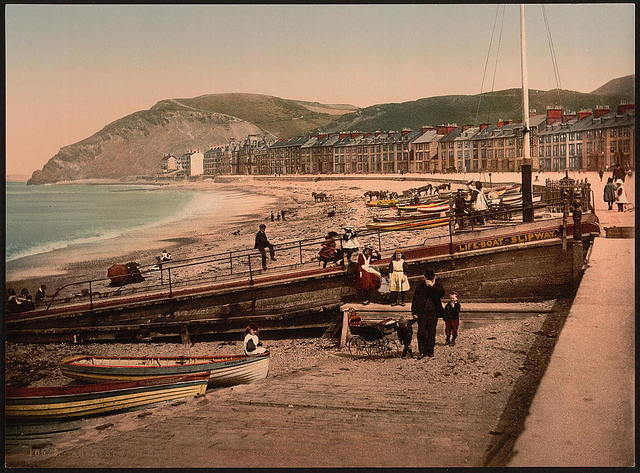 [On the sands, Aberystwith, Wales]