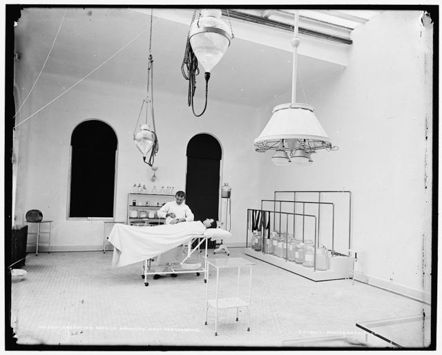 Operating room in Brooklyn Navy Yard Hospital