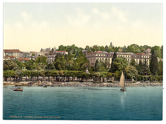 [Ouchy, Hotel Beaurivage, Geneva Lake, Switzerland]
