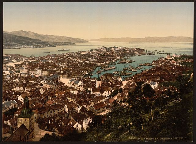[Panoramic view, II, Bergen, Norway]