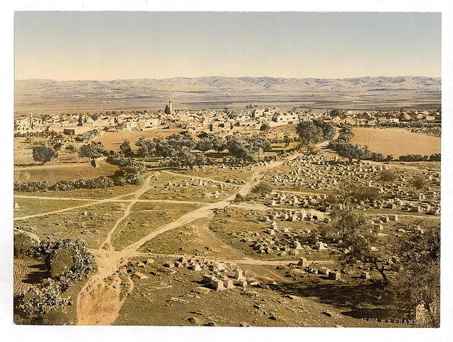 [Panoramic view taken from The Tower of the Forty Martyrs, Ramleh, Holy Land, (i.e., Ramlah, Israel)]