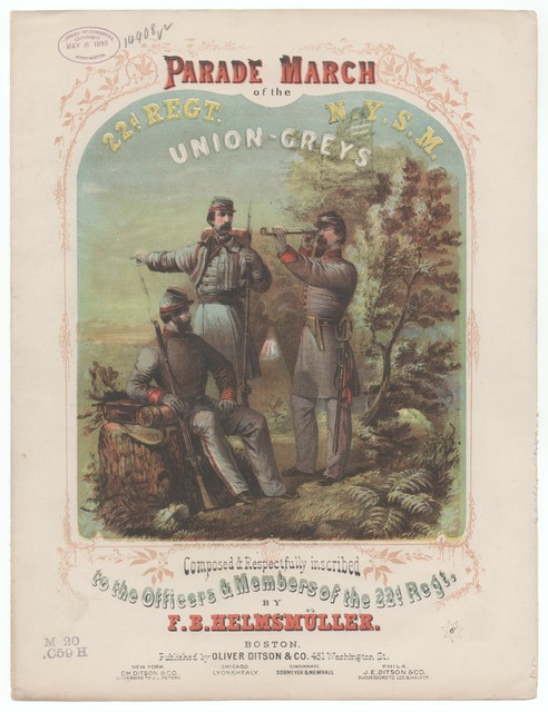 Parade march of the 22nd Regiment N.Y.S.M. Union - Greys