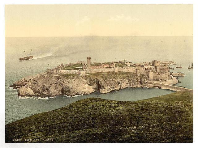 [Peel, general view of castle, Isle of Man]