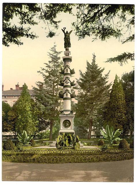 [Pola, Maximilian's Monument, Istria, Austro-Hungary]