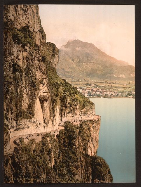 [Ponale Road and view of Riva, Lake Garda, Italy]