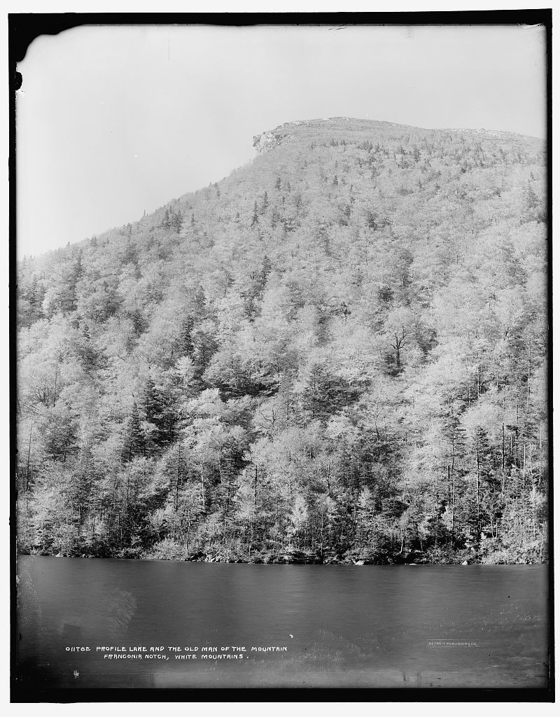 Profile Lake and the Old Man of the Mountain, Franconia Notch, White Mountains
