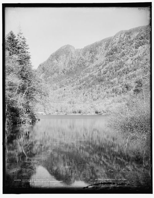 Profile Lake from outlet, Franconia Notch, White Mountains
