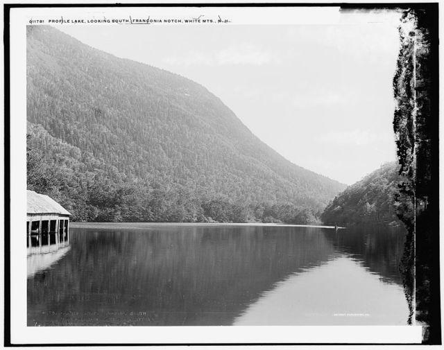Profile Lake, looking south, Franconia Notch, White Mts., N.H.
