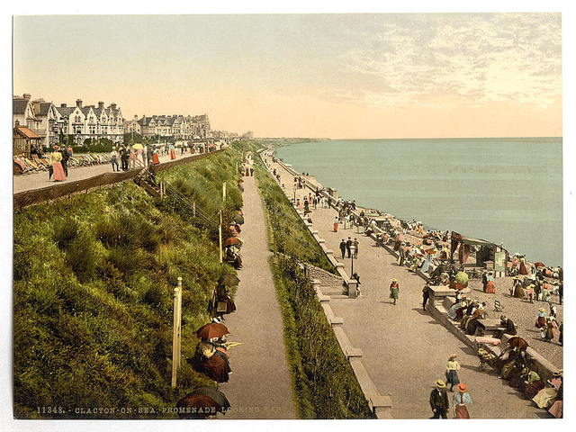 [Promenade looking east, Clacton-on-Sea, England]