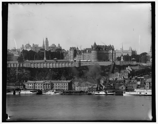 [Quebec and the Chateau Frontenac from Levis, Quebec]