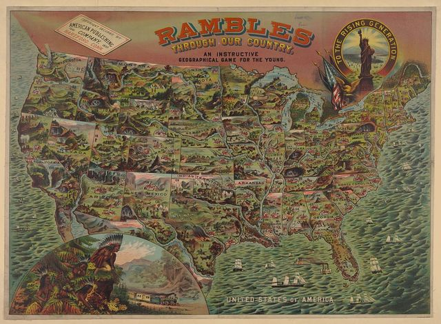 Rambles through our country - an instructive geographical game for the young