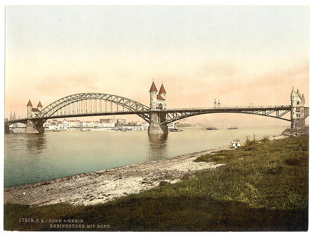 [Rhine Bridge, Bonn, the Rhine, Germany]