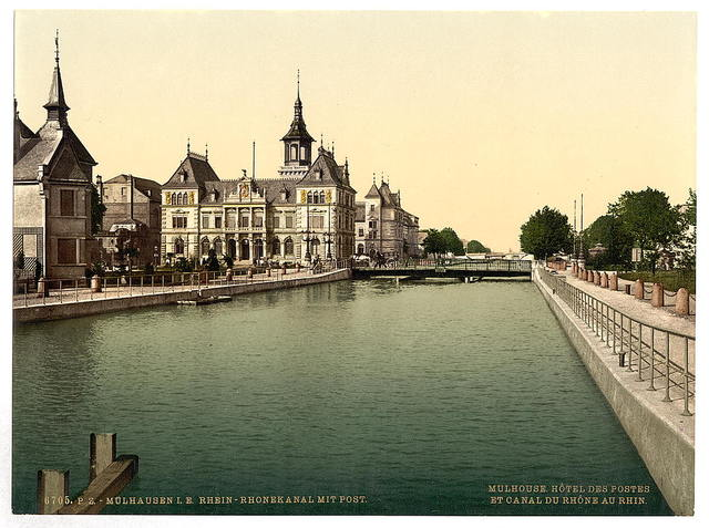 [Rhone and Rhine Canal and Post, Mulhausen, Alsace Lorraine, Germany]