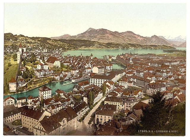[Rigi, seen from the Gutsch, Lucerne, Switzerland]