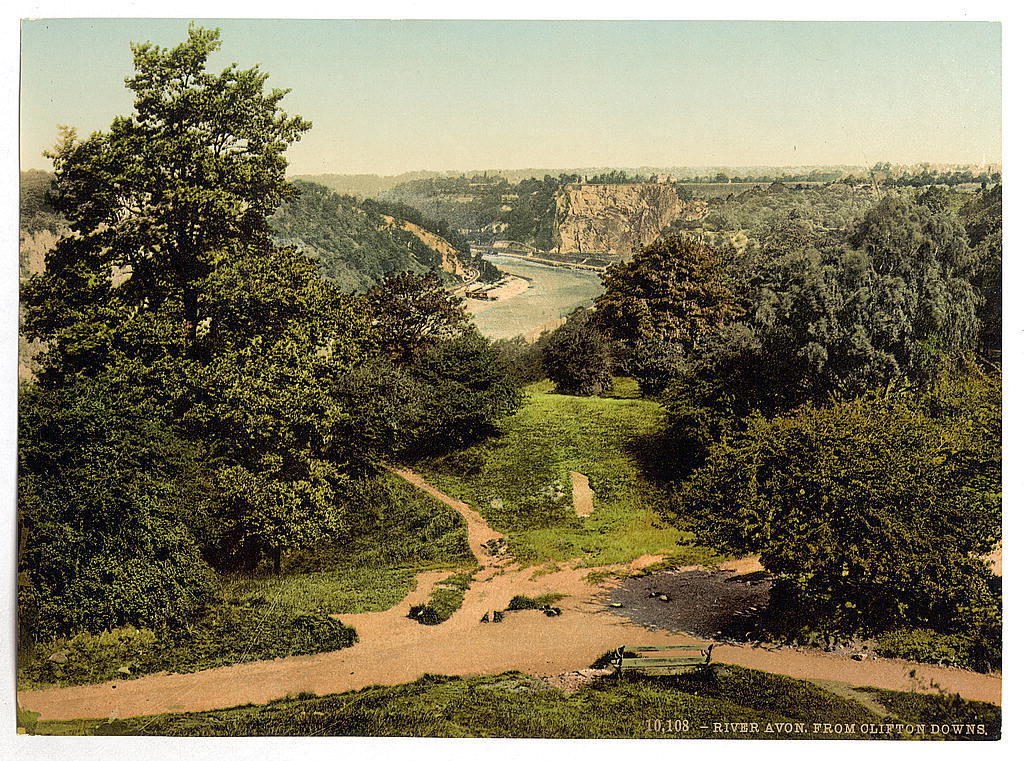 [River Avon from Clifton Downs, Bristol, England]