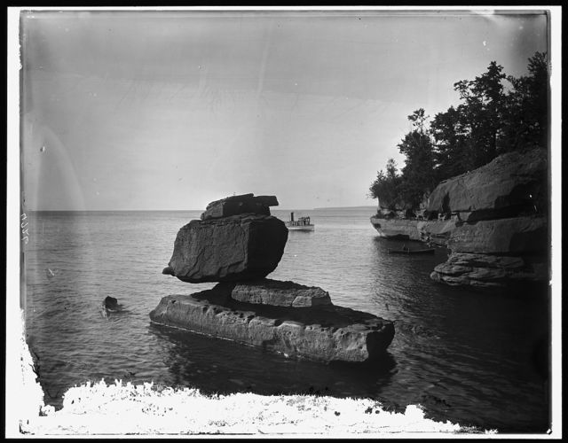 [Rock in Apostle Islands, Lake Superior]