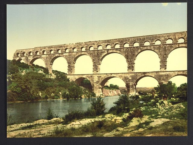 [Roman bridge over the Gard, constructed by Agrippa, Nîmes, France]