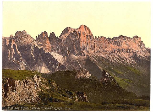 [Rosengarten Group from Schlern, Tyrol, Austro-Hungary]