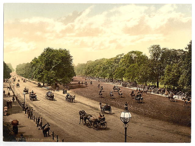 [Rotten Row and Hyde Park Corner, London, England]
