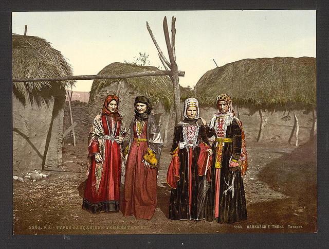 [Russian types of Tartar, (i.e., Tatar), women of the Caucasus, Russia]