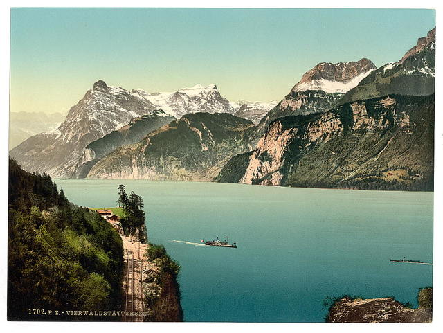 [Rutli, and Urirothstock, (i.e., Urirotstock), Lake Lucerne, Switzerland]
