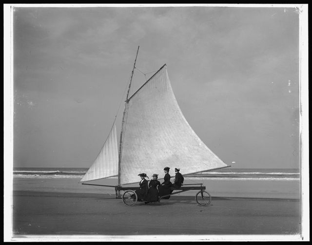 [Sailing on the beach, Ormond, Florida]