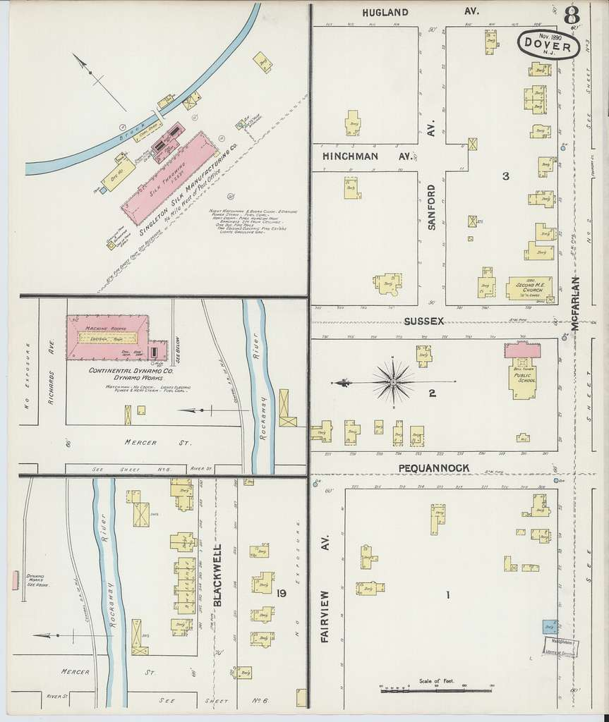 Sanborn Fire Insurance Map from Dover, Morris County, New Jersey