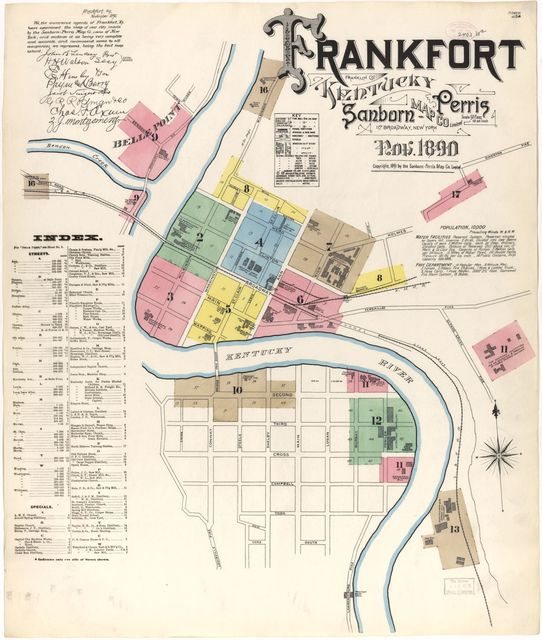 Sanborn Fire Insurance Map from Frankfort, Franklin County, Kentucky.