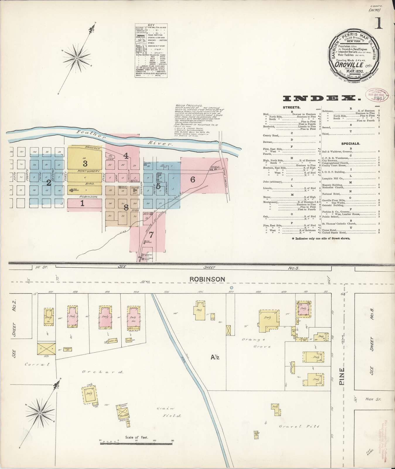 Sanborn Fire Insurance Map from Oroville, Butte County, California