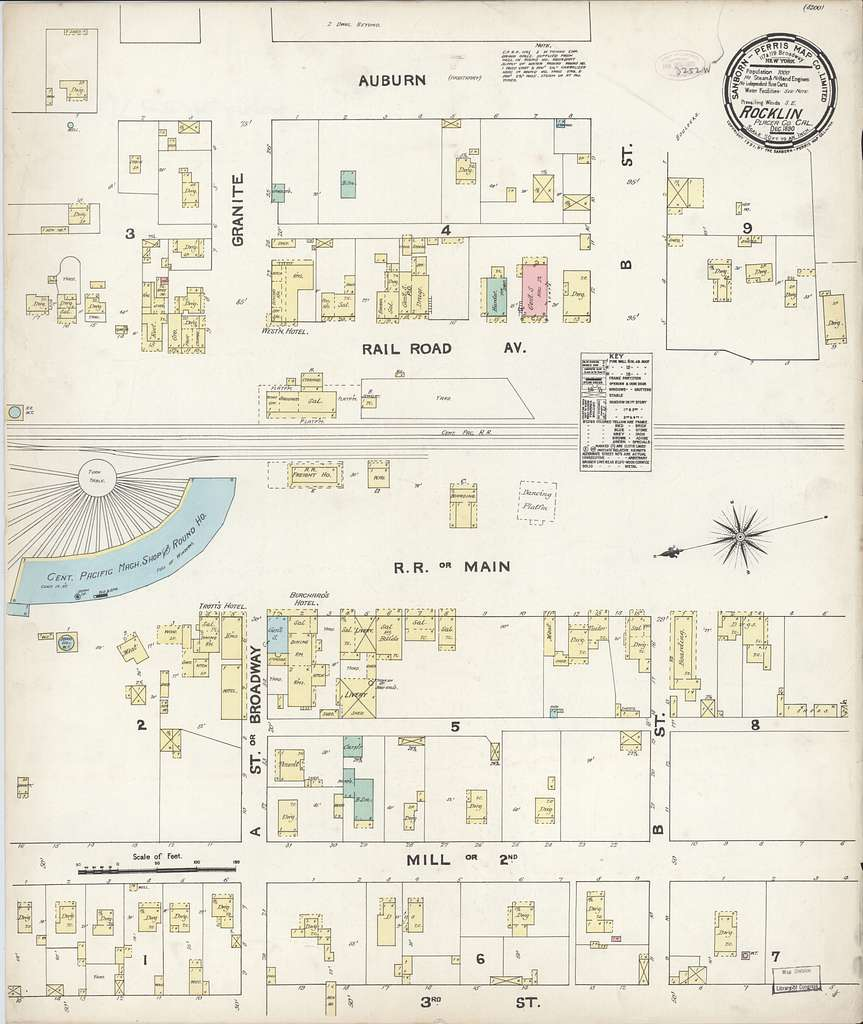 Sanborn Fire Insurance Map from Rocklin, Placer County, California