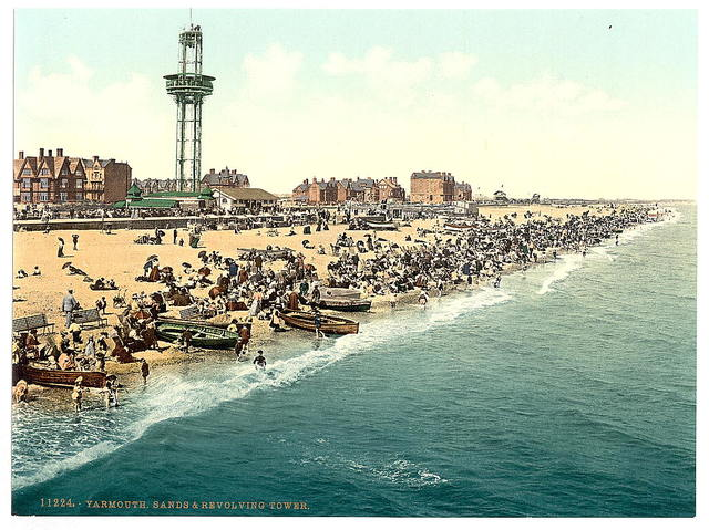 [Sands and revolving tower, Yarmouth, England]