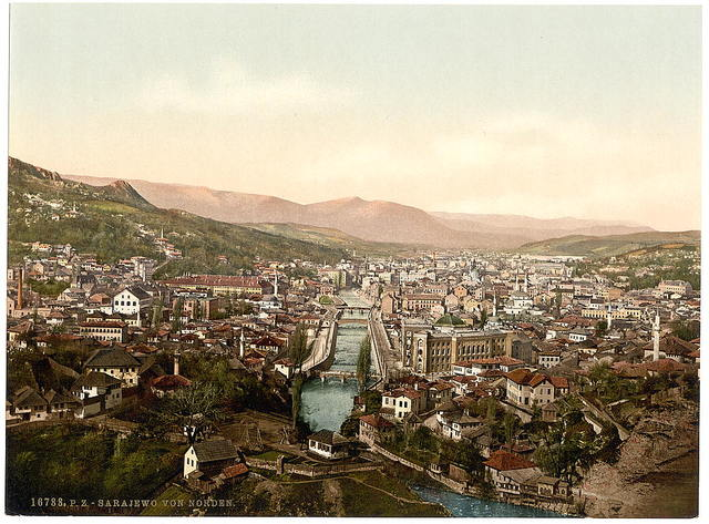 [Sarajcvo (i.e., Sarajevo), from the north, Bosnia, Austro-Hungary]