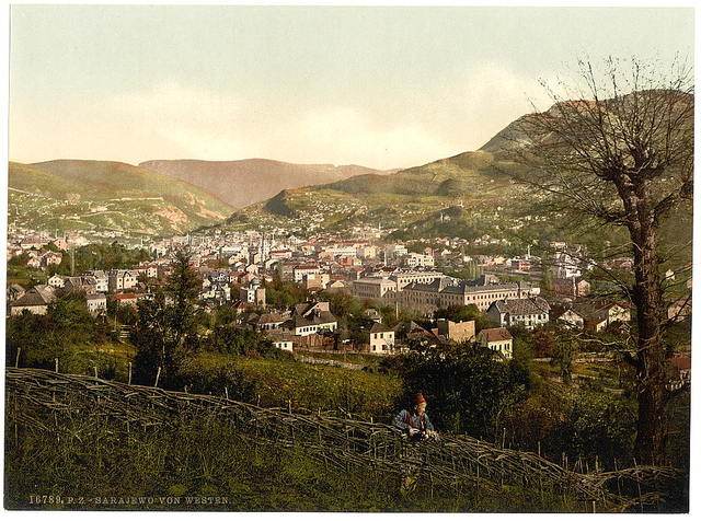 [Sarajcvo (i.e., Sarajevo), from the west, Bosnia, Austro-Hungary]