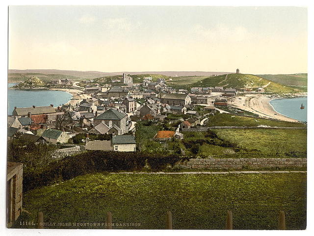 [Scilly Isles, Hughtown, [i.e., Hugh Town], from Garrison, Cornwall, England]