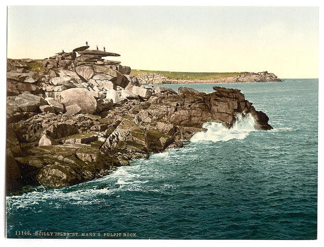 [Scilly Isles, St. Mary's. Pulpit Rock, Cornwall, England]