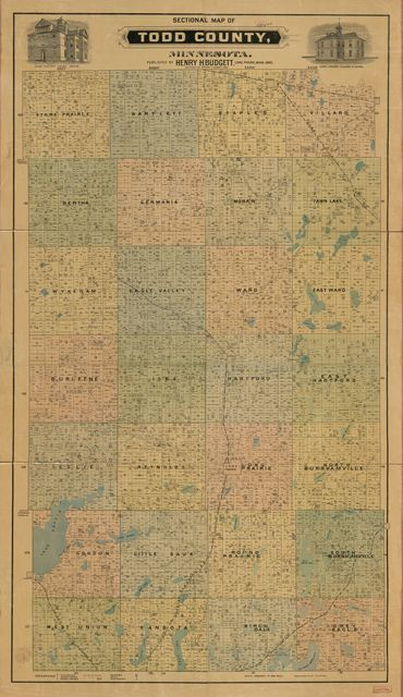 Sectional map of Todd County, Minnesota.