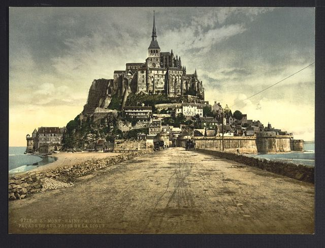 [South front from the dike, Mont St. Michel, France]