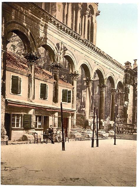 [Spalato, Diocletian's Palace, the Peristyle, Dalmatia, Austro-Hungary]