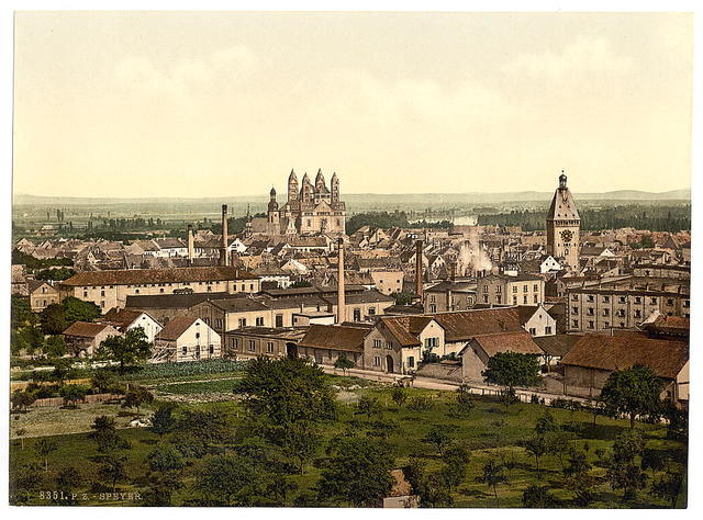 [Speyer, general view, the Rhine, Germany]