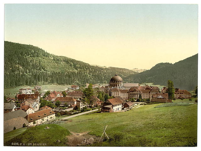 [St. Blasien, general view, Black Forest, Baden, Germany]
