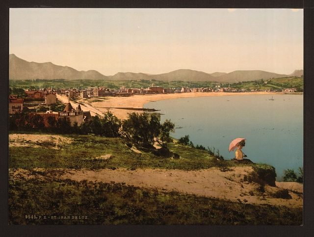 [St. Jean de Luz, from Ste. Barbe, Pyrenees, France]