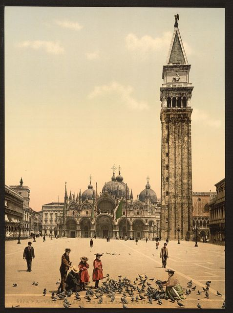 [St. Mark's Place, with campanile, Venice, Italy]