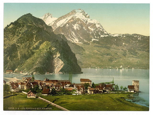 [Stanstaad and Pilatus, Lake Lucerne, Switzerland]